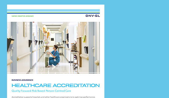 DNV GL Healthcare flyers