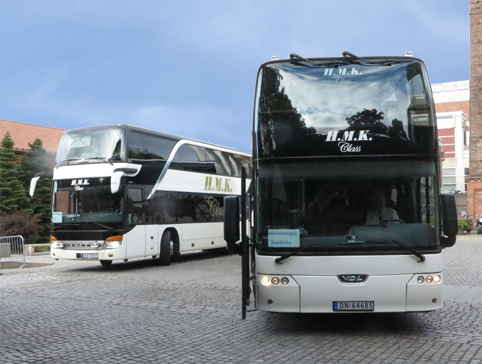 HMK busses at the Veritas centre