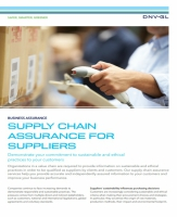 Supply chain assurance for suppliers